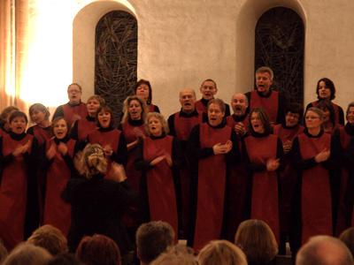 und von vorne beim Altar, hier der Gospelchor vom Bremer Dom.