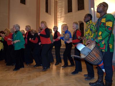 Das Chorprojekt Shosholoza präsentierte südafrikanische Chormusik.